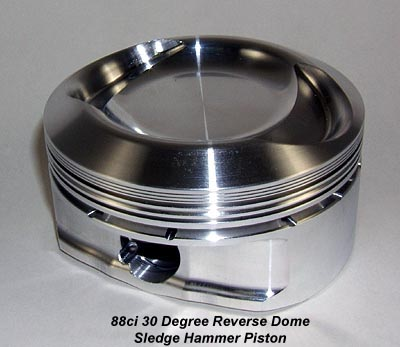 Lightweight High Performance 88ci 30 Degree Reverse Dome Forged Piston for Harley Davidsons and Buells