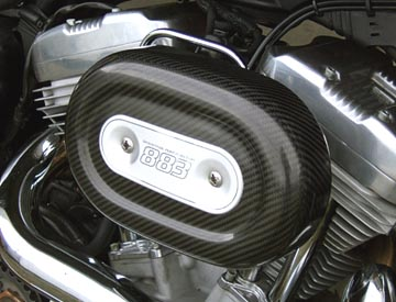 Air Hammer Air Cleaner from HAMMER PERFORMANCE, 91-Up Sportster CRUSH 2.25 Inch Forward Offset