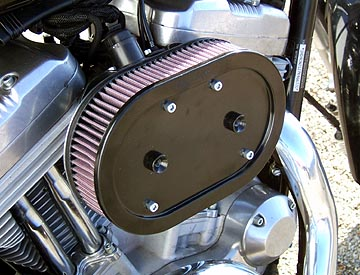 Air Hammer Air Cleaner from HAMMER PERFORMANCE, 91-Up Sportster IMPACT 2 Inch Centered