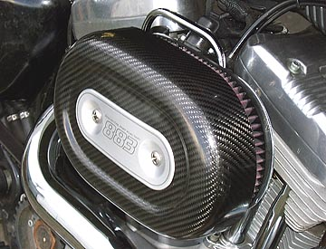 Air Hammer Air Cleaner from HAMMER PERFORMANCE, 91-Up Sportster SLEDGE 3 Inch Forward Offset