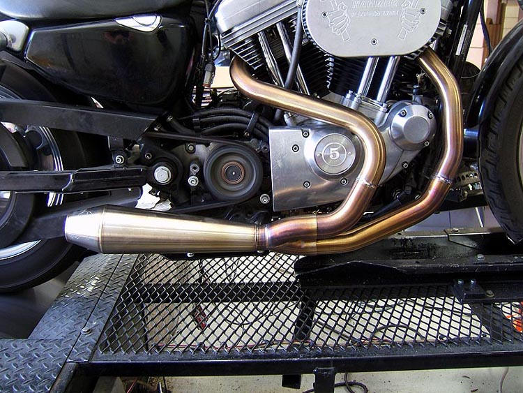 Two Bothers Comp-S 2014+ two into one Sportster exhaust system