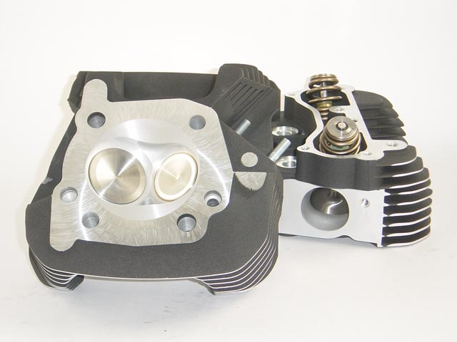 HAMMER PERFORMANCE CRUSH CNC Ported Harley Davidson XL1200 Sportster Cylinder Heads