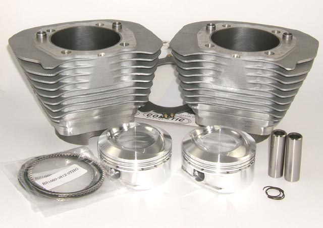 Axtell 88 Cubic Inch Kit for Harley Davidson XL Sportster or Buell with Iron Lined Aluminum Cylinders and 30 Degree Reverse Dome Pistons