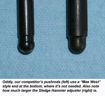 Comparison of Harley pushrod bottom ends