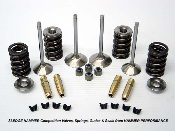 Sledge Hammer Competition Valves and Springs for Harley Davidson Twin Cam Cylinder Heads